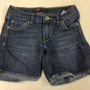 Girls Juniors Levis Midi Shorts Denim Jean Shorts
